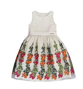Vestido Barrado Flores - Momi