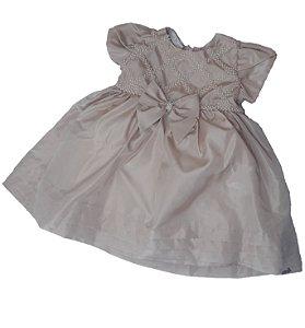 Vestido de Bebê com Aplicação em Pérola - roana