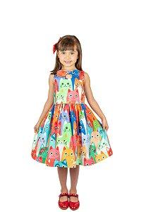 Vestido de Festa - Gatinhos - Mactoot