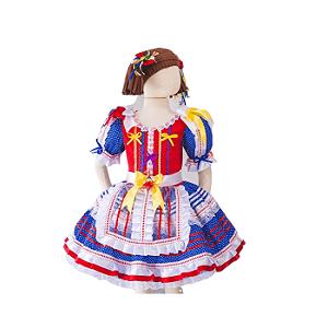 Vestido de Festa Junina Infantil - Bolinha