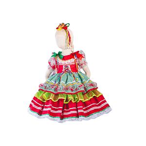Vestido de Festa Junina Infantil Espartilho