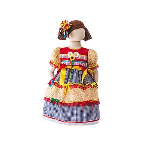 Vestido de Festa Junina Infantil Laços