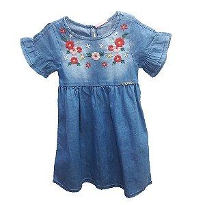Vestido Infantil Momi Jeans Bordado