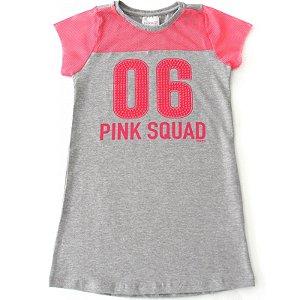 Vestido Infantil Momi Pink Squad - Rosa