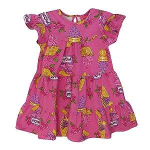 Vestido Infantil Momi Sorvetes - Rosa