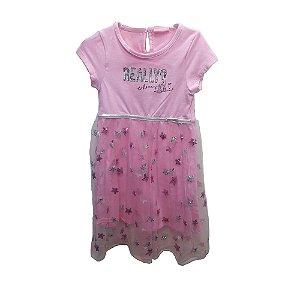 Vestido Infantil Momi Tule Really? - Rosa