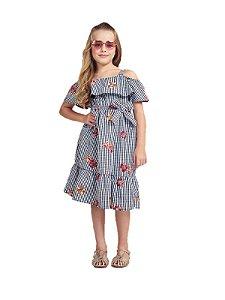 Vestido Infantil Momi Vichy Bordado