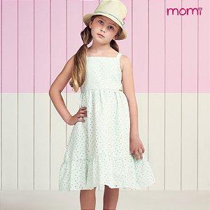 Vestido Laise Verde Off White - Momi
