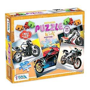 Conjunto de 4 Quebra-Cabeças Puzzle Toia 400 peças Motos
