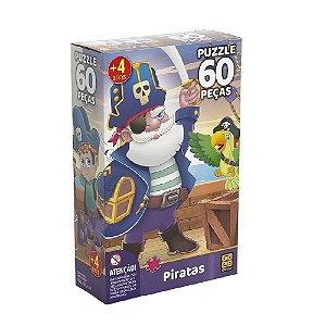 Quebra-Cabeça Puzzle Grow 60 peças Piratas