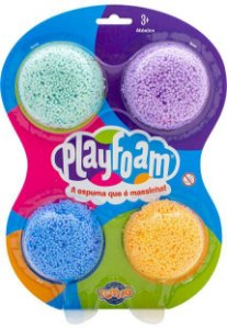 Massinha de Modelar com 4 Packs - Playfoam
