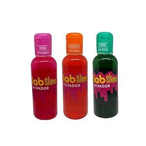 Kit Ativador Lab Slime - Rosa - Laranja - Verde