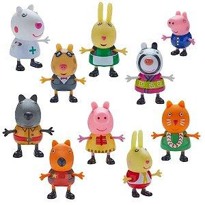 Peppa Pig Fantasia com 10 Figuras -DTC 4859