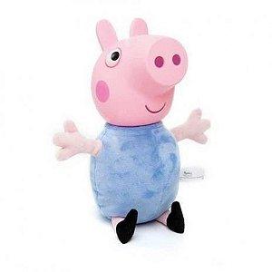 Pelúcia George Pig Cabeca De Vinil - Peppa Pig