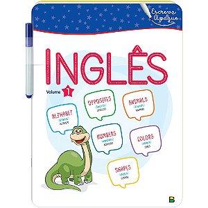 Livro Aprenda em Casa Escreva e Apague: Inglês V1