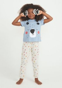 Pijama Infantil PUC Manga Curta Com Calça