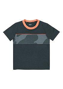 Camiseta Infantil PUC Detalhe Camuflado