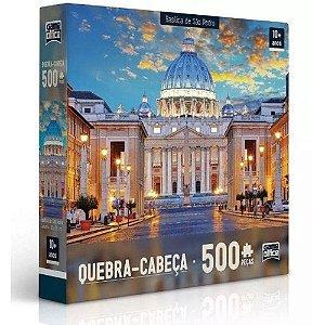 Quebra-Cabeça Puzzle Game Office 500 Peças Basílica de São Pedro