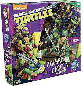 Quebra-Cabeça Puzzle 60 peças em Madeira Tartarugas Ninja