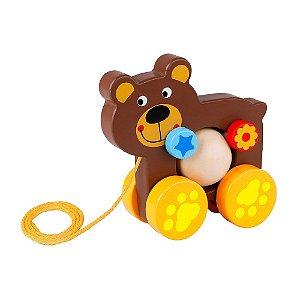 Carrinho de Madeira Urso Divertido Tooky Toy