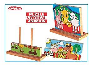 Quebra-Cabeça Puzzle Carimbras 3 peças Vertical Animais
