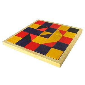 Mosaico Colorido 32 Peças Madeira
