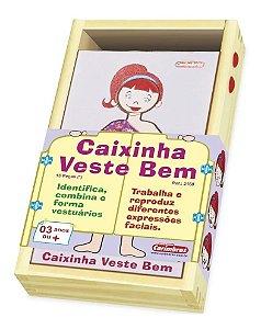 Caixinha Veste Bem Ela - Brinquedo Educativo em Madeira