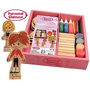 Personal Glamour 34 peças em Madeira Carimbras - Brinquedo Educativo em Madeira