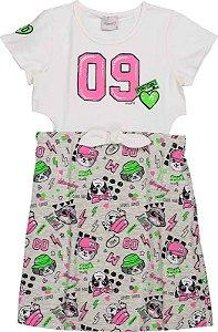 Vestido Infantil Momi Dog Days 9044