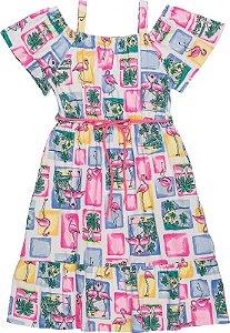 Vestido Infantil Momi Flamingos 9161