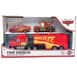 Kit Disney Carros Caminhão Mack, Mcqueen e  Mate Roda Livre - Toyng