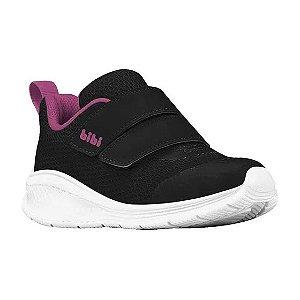 Tênis Bibi Fly Baby Preto Pink New
