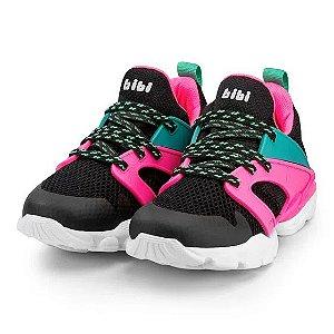 Tênis Bibi Drop New Preto Pink New
