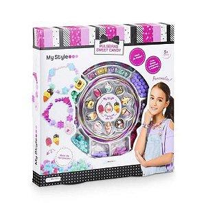 My Style Pulseiras Sweet Candy com 160 Peças - BR1118 Multikids