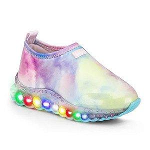 Tênis Bibi Roller Celebration Tie Dye Colorido Glitter