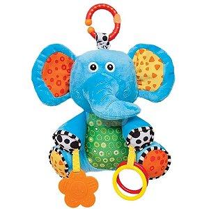 Pelúcia Elefantinho com Atividades com Mordedor - Buba