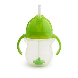Copo Infantil Treinamento com Canudo Click Lock Munchkin Verde