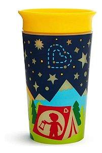 Copo Infantil 360 Glow Munchkin Amarelo/ Azul Marinho