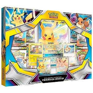 Box de Cartas Pokémon Pikachu-GX Eevee-Gx