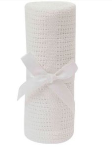 Manta Buba Tricot Branco