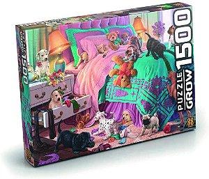 Quebra-Cabeça Puzzle Grow 1500 peças Filhotes em Ação