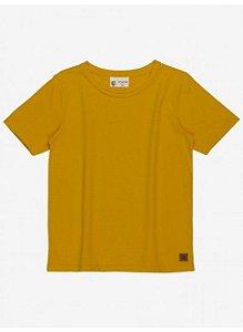 Camiseta Infantil Youccie Básica Amarelo