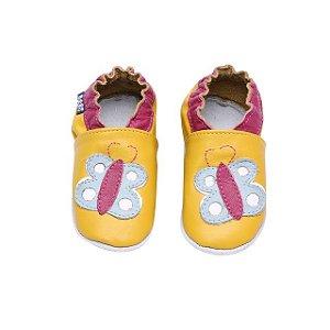 Sapatinho Infantil Babu Uabu Pantufa Borboleta - Amarelo