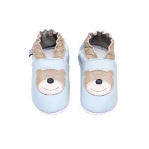 Sapatinho Infantil Babu Uabu Pantufa Urso - Light Blue