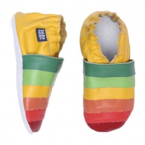 Sapatinho Infantil Babu Uabu Pantufa Caleidoscópio Multicolor - Amarelo