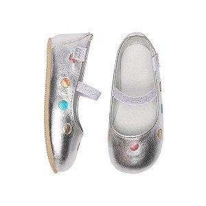 Sapatilha Infantil Babu Uabu Bailarina Confete - Prata