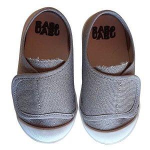 Tênis Infantil Babu Uabu Velcro - Cinza