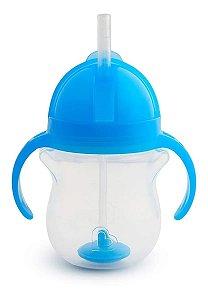 Copo Infantil Treinamento com Canudo Click Lock Click Munchkin Azul