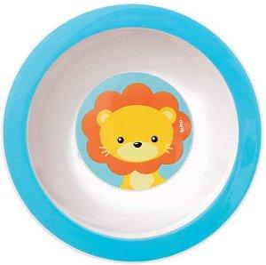 Pratinho Bowl Buba Animal Fun Leão Azul