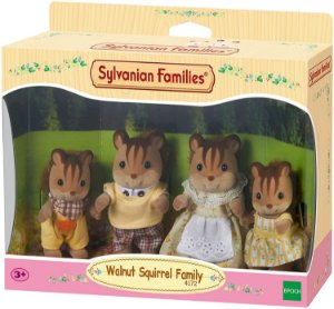 Sylvanian Families Família dos Esquilos Noz - Epoch Magia 4172